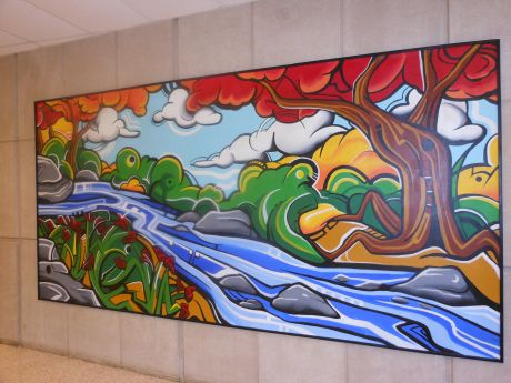Antioch community high school 100th year anniversary for Community mural ideas