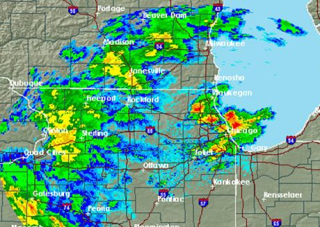 Thunderstorms roll into Chicago area, more likely later tonight