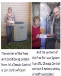 JNL Climate Control's Winners!