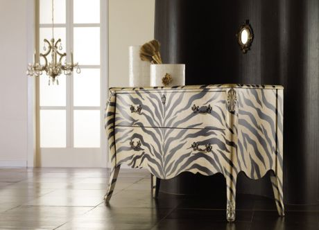 This Painted Zebra Print Chest Brings Wild Style To A Special Room
