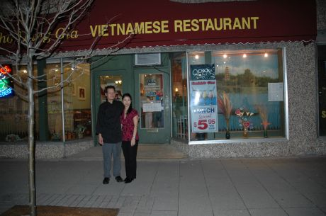 Pictured Above Left To Right Dung Gia Vietnamese Restaurant Owners David And Selena Tran