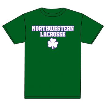c392857ff Receive a free St. Patrick's Day-themed Northwestern Lacrosse shirt at the  NU vs