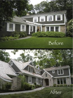 Before And After Images Of The Whole House Remodel At 565 Lakeland Dr, Lake  Bluff