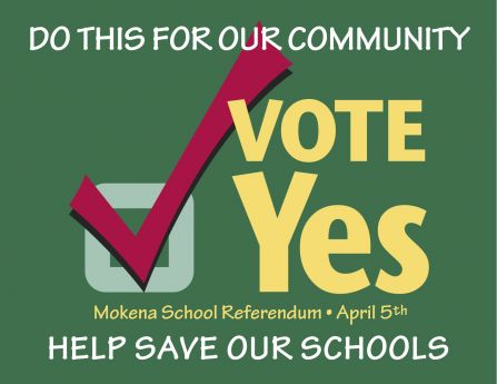 vote yes on april 5th mokena news photos and events