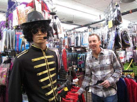 Owner Randy Israel stands next to a Michael Jackson mannequin in his shop Magical Mystery  sc 1 st  Suburbs & After 35 years in business costume shop to close after Halloween ...