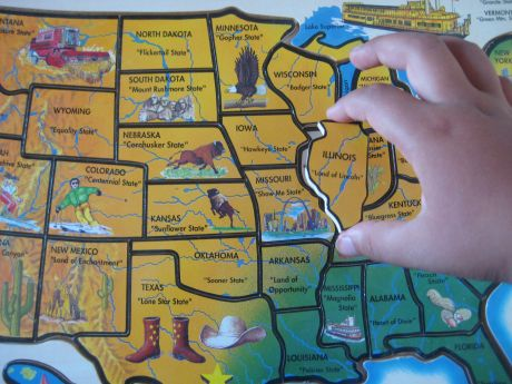 Image Gallery 50 States Puzzle