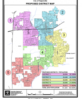 Naperville releases map of proposed council districts Naperville