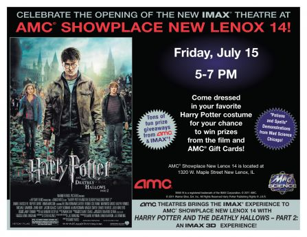 Imax Harry Potter Grand Opening At Amc New Lenox New
