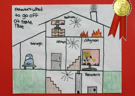 oak park students winners in fire prevention poster contest oak the winning entry submitted by 6th grader larry moore