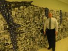 Ira Jones Middle School students created a mural for the 10th anniversary of the 9-11 tragedy. Principal Dr. Ed Boswell said students made the mural by clipping and posting news items, photos and other images related to 9-11.
