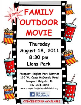 Family Outdoor Movie Night At The Prospect Heights Park District