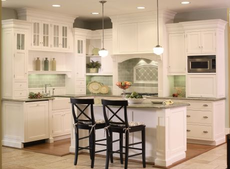 Normandy White Kitchen Display