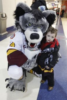 Chicago Wolves Mascot Skates Joins Fifth Third Bank