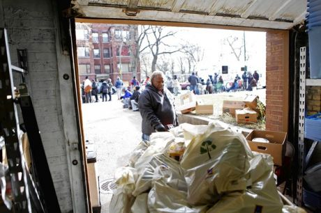 clients past and present often help out at food pantries