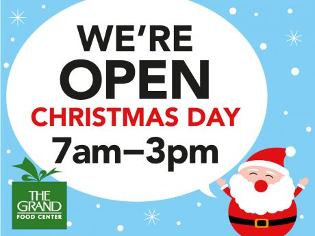 grand food center open limited hours on christmas day